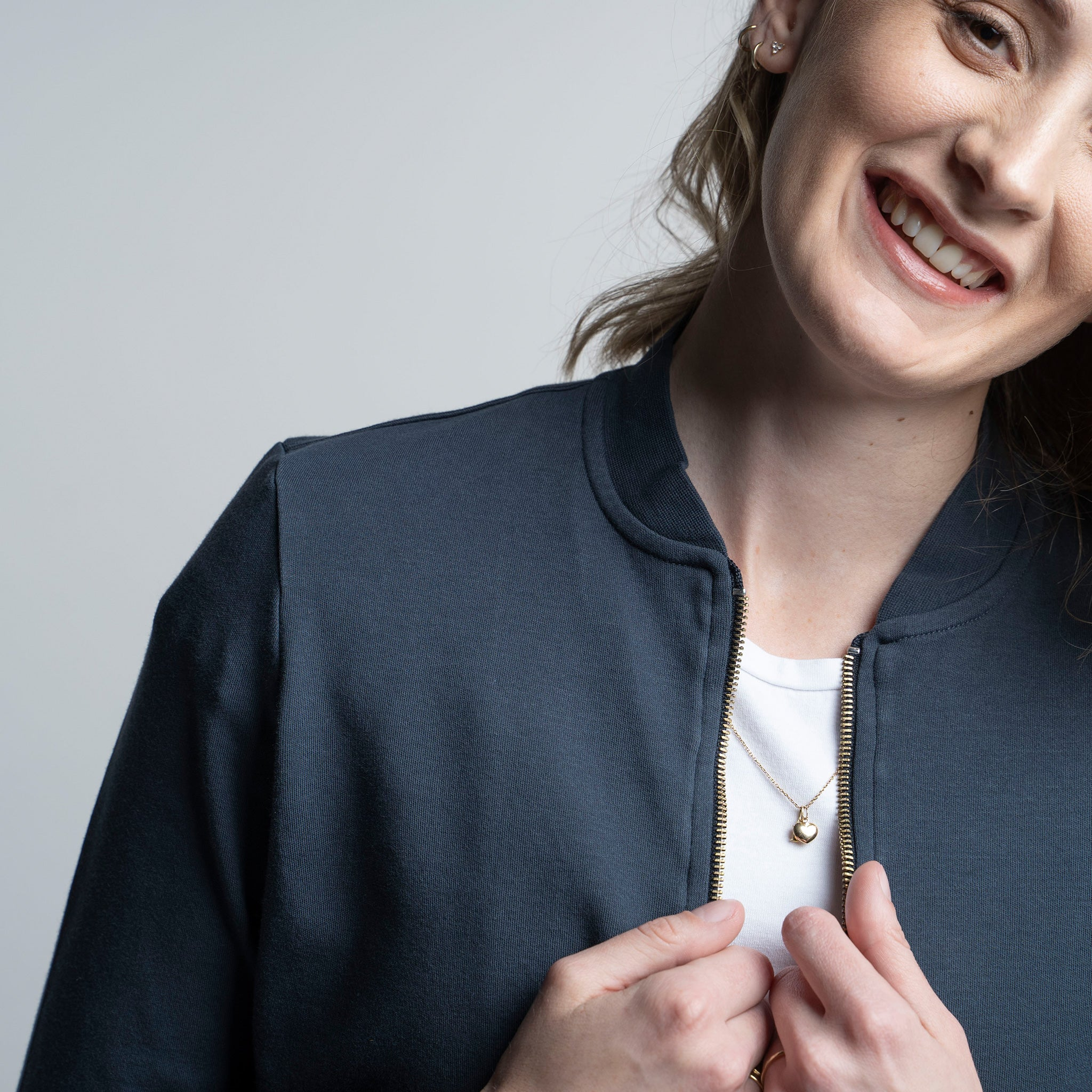 Women's Zip Jacket - Marinha
