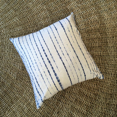 Shibori Hand Dyed Cushion Cover - Lines