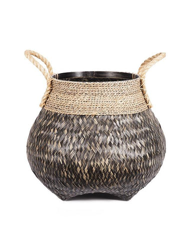 Rope Weave Seagrass Basket with handles