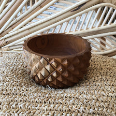 Teak Bowl - pineapple