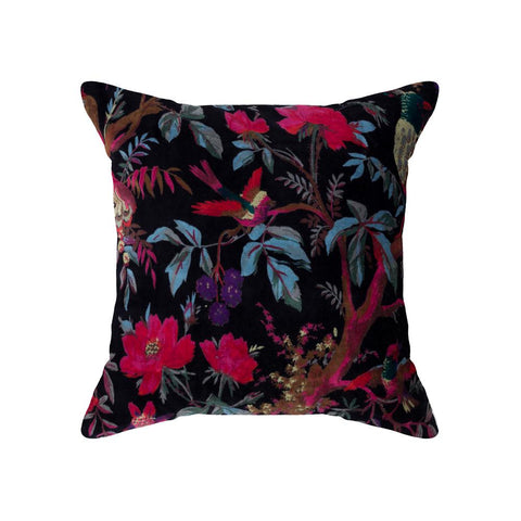 Black Velvet Bird of Paradise Cushion 45 x 45