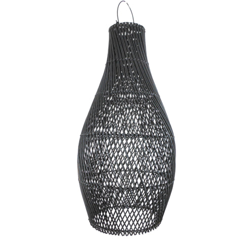 The Saint Clair Rattan Pendant - Black