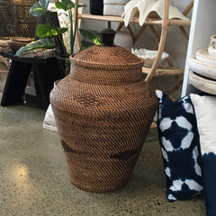 RATTAN BELLY BASKET
