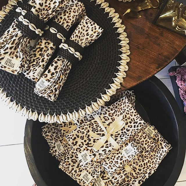 Jungle Fever Leopard Print Napkins (set of 4)