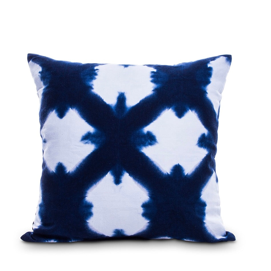 Shibori Hand Dyed Cushion Cover