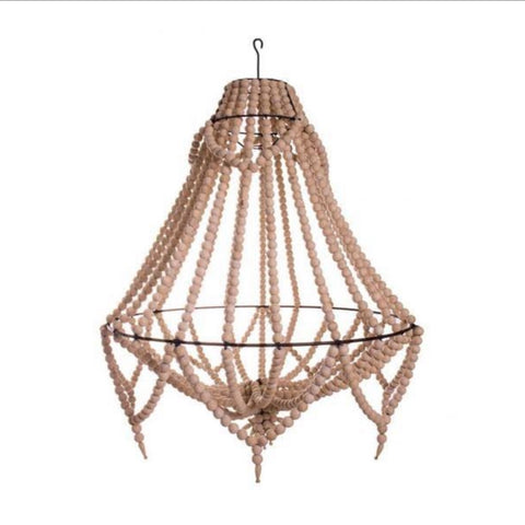 Lyla Beaded Chandelier - Natural - Large