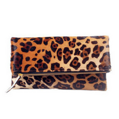 Manhattan Foldover Clutch - Jaguar - Genuine Calf Hair