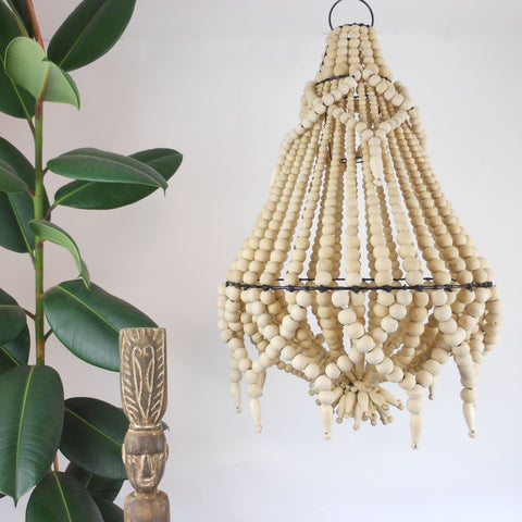 Lyla Beaded Chandelier - Natural