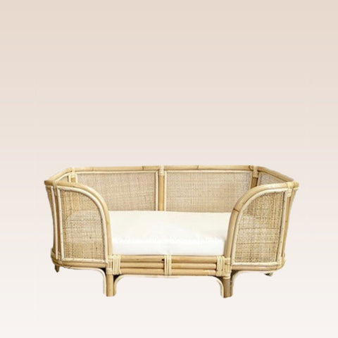 Havana Rattan Weave Pet Bed (Small) - Natural