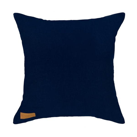 Shibori Half Moon Navy Cushion