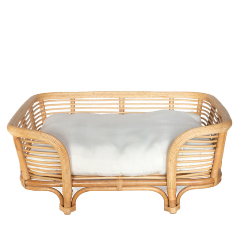 Palm Beach Rattan Dog Bed (Large) - Natural