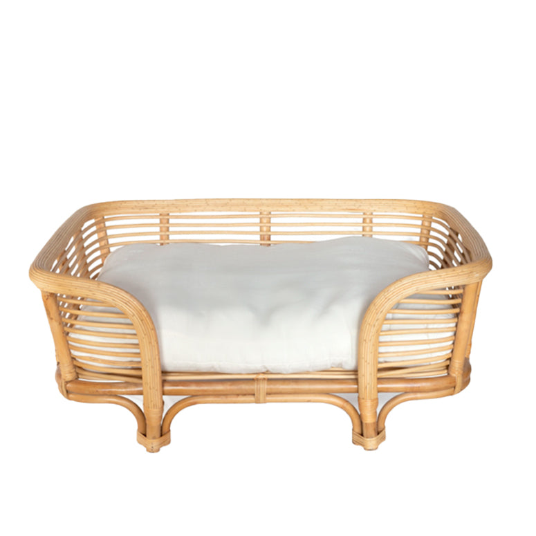 Palm Beach Rattan Dog Bed (Medium) - Natural
