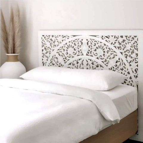 Balinese Carved Wooden Bedhead - QUEEN Mid-Height