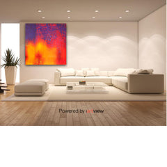 Artwork - Abstract 2- Hand painted, acrylic on canvas by Katamama - View in living room