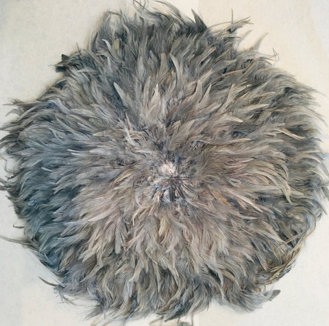 Feather juju wall hanging Grey - Large (60cm)