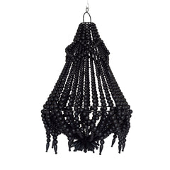 Lyla Beaded Chandelier - Black