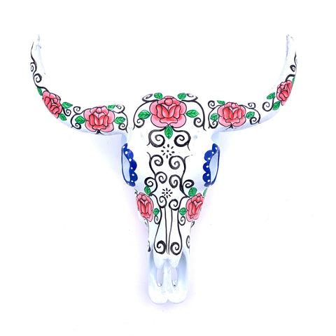 Buffalo Skull (Resin) - Mexican Day of the Dead