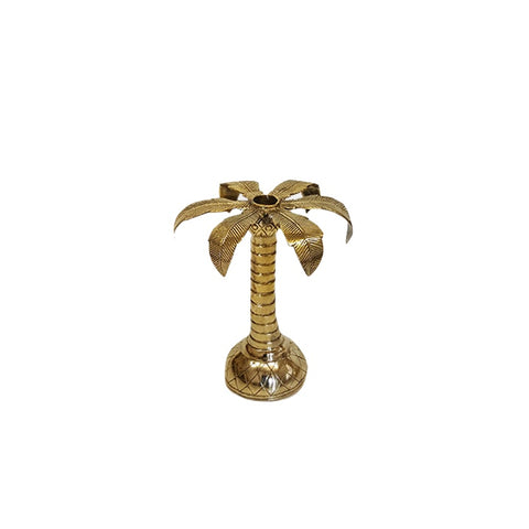 Palm Tree Brass Candleholder (Small)