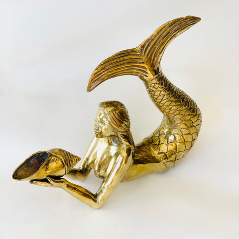 Brass Mermaid with Shell