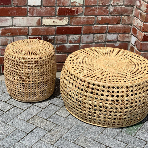 Woven Boho Rattan Side Table