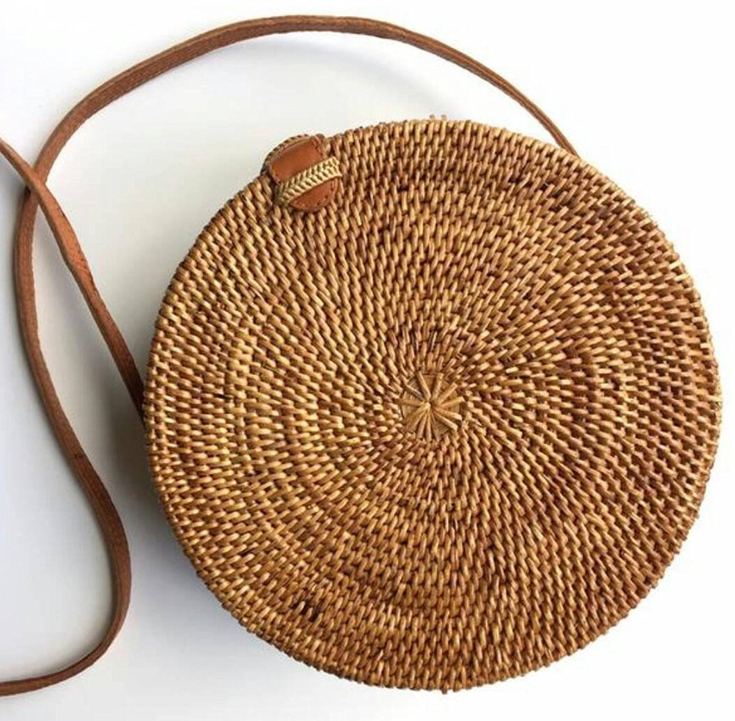 Paddington Round Rattan Bag - Natural