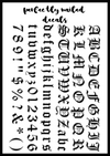 Metallic - Old English LARGE – perfectly_nailed Old English Numbers 1 10