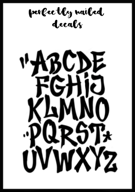 Metallic - Graffiti Font 1