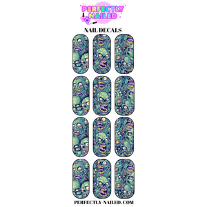 Zombie 1 Nail Decals