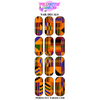 African Print 1 Nail Decals