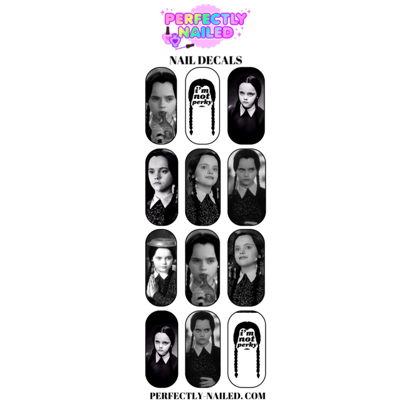 Wednesday Addams Nail Decals