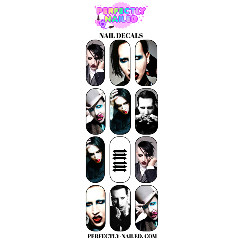 Marilyn Manson Nail Decals