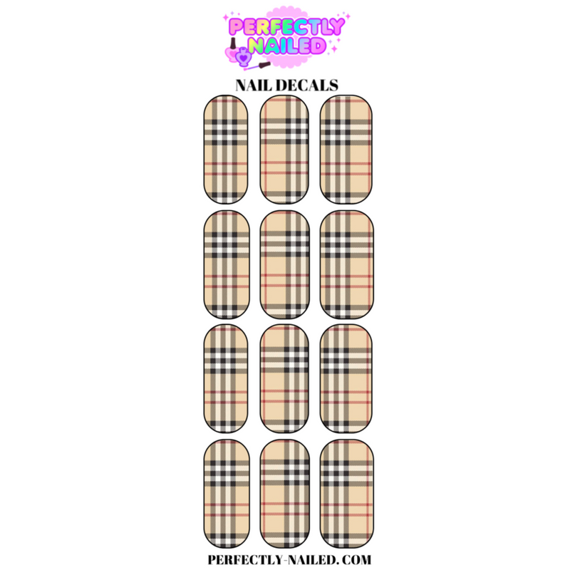 Burberry 2 Nail Decals