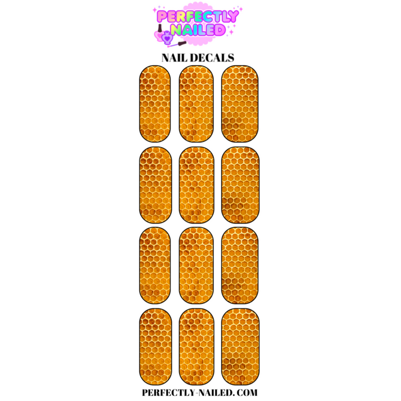 Honeycomb Nail Decals