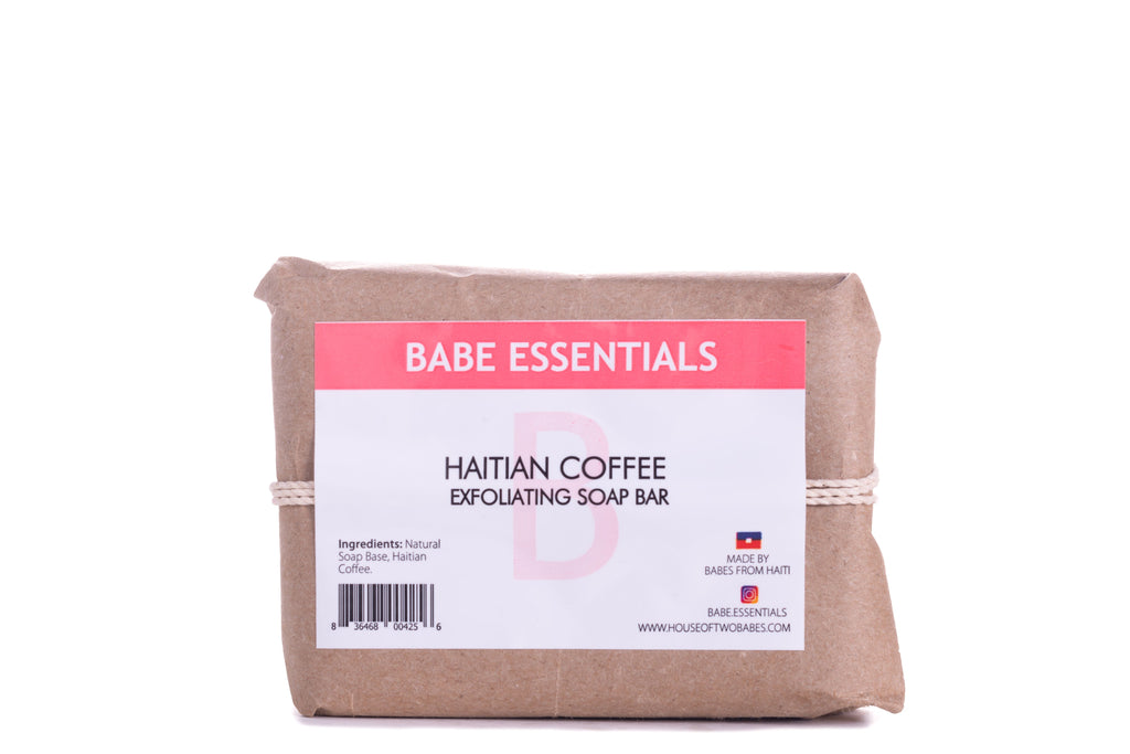 Babe Essentials - Exfoliating Haitian Coffee Soap Bar | Soap Bar Scrub