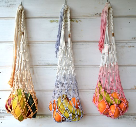 Macrame Grocery Tote