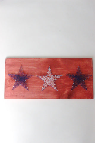 Three Star String Art Project
