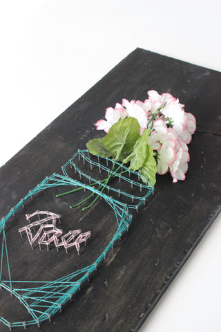 Floral String Art Board