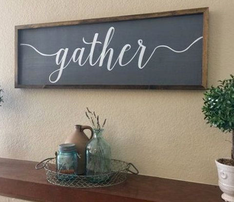 Framed Wood Decor Signs