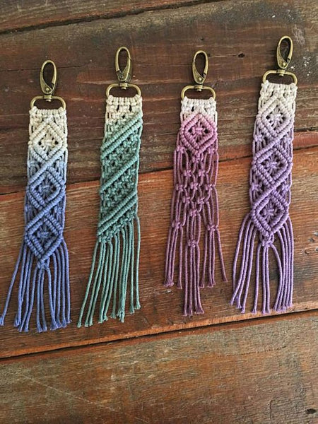 Macrame Keychains (family friendly)