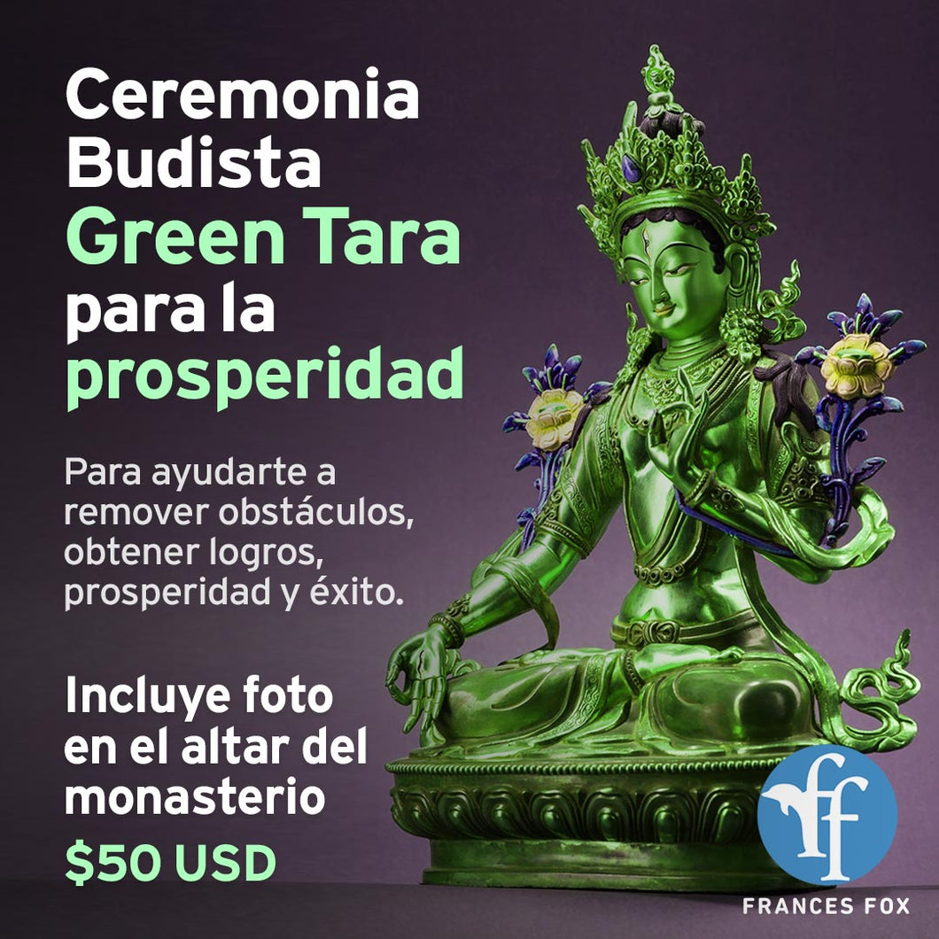Ceremonia Budista Green Tara para la Prosperidad (MAY 6 2021)
