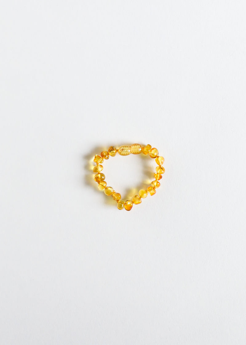 Polished Honey Amber || Anklet or Bracelet
