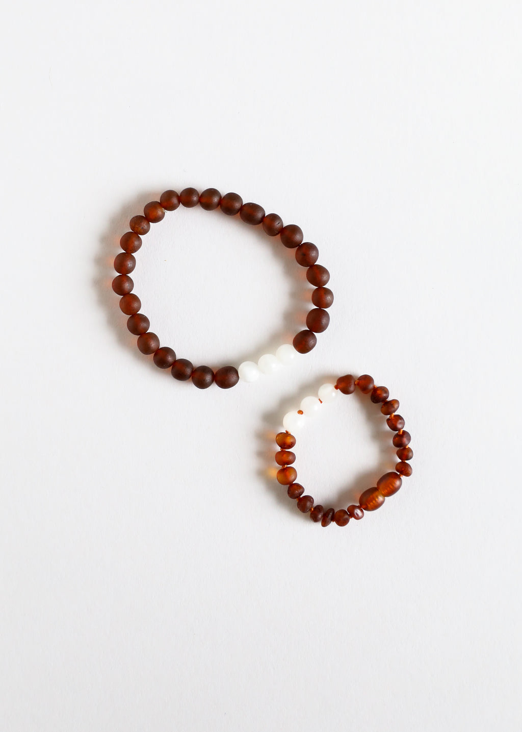 Raw Cognac Amber + Moonstone || Mommy & Me || Bracelets
