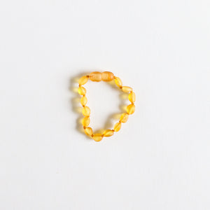 Raw Honey Amber || Classic Anklet or Bracelet
