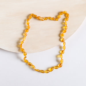 Raw Honey Amber || Classic Necklace