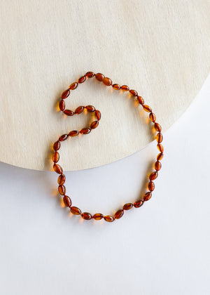 Polished Cognac Adult Amber Necklace