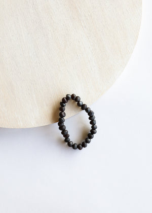 Raw Black Amber || Adult Bracelet