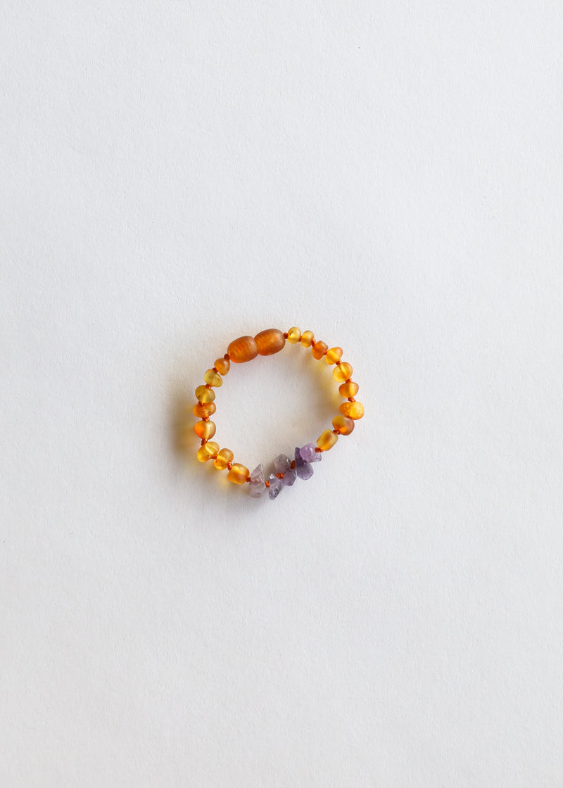 Raw Honey Amber + Raw Amethyst || Kids