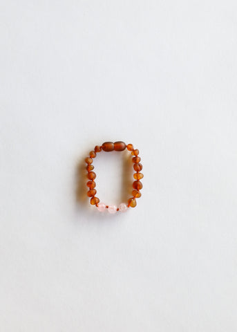 Polished Cognac Amber || Kids Bracelet