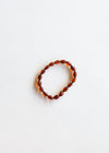 Raw Cognac Amber + Raw Rose Quartz || Kids Bracelet