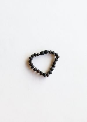 Raw Black Amber || Anklet or Bracelet